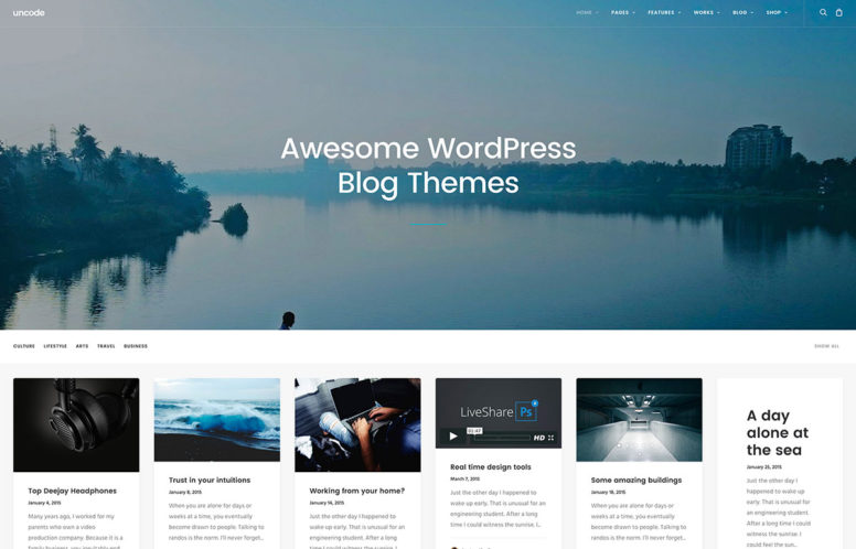 40+ Best Blog WordPress Themes For Corporate, Personal, Fashion, Travel, Photoblogging And More – 2018