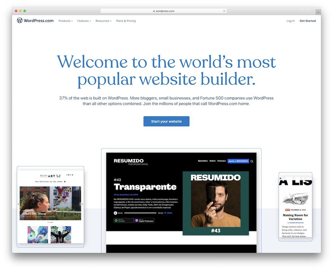 wordpress build portfolio website