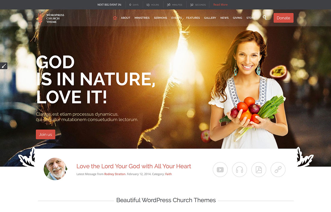 15 Responsive Church WordPress Themes For Event And Sermon Management 2017