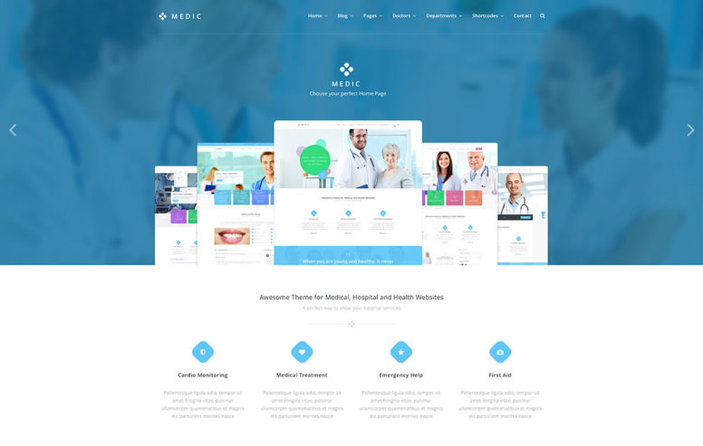 Top 20 Simple WordPress Themes For Doctors And Medical Organizations 2018