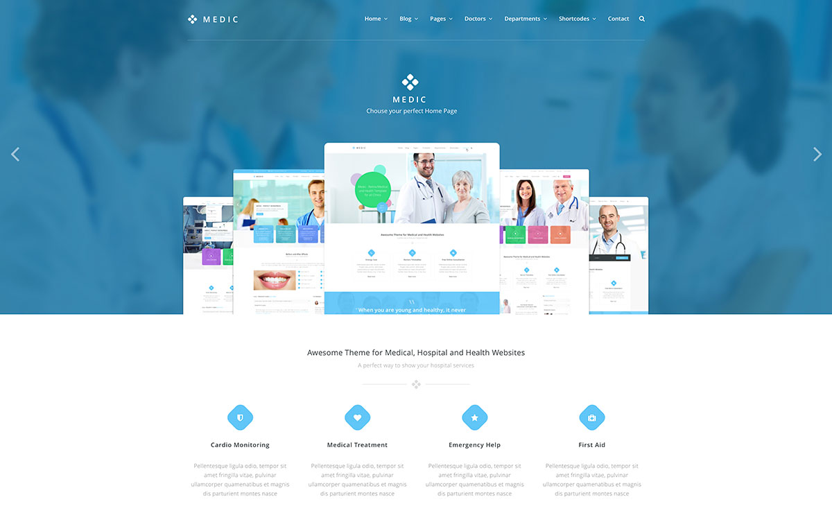 Top 20 Simple WordPress Themes For Doctors And Medical Organizations 2017