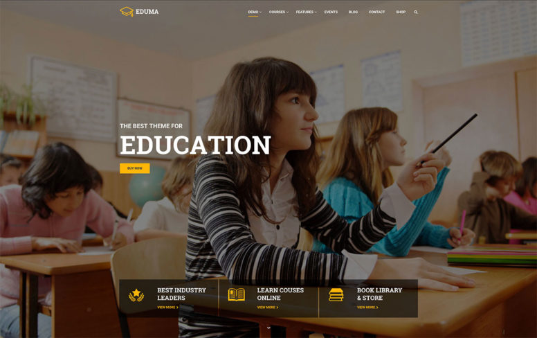 30 Awesome Responsive Education WordPress Themes For Online Courses, Schools, Kindergartens And Universities 2017
