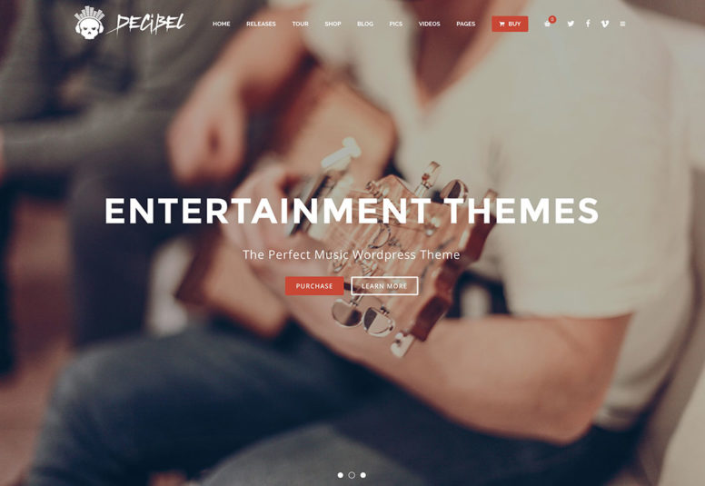 18 Most Popular WordPress Entertainment Themes For Musicians, Festivals And Event Managers 2018