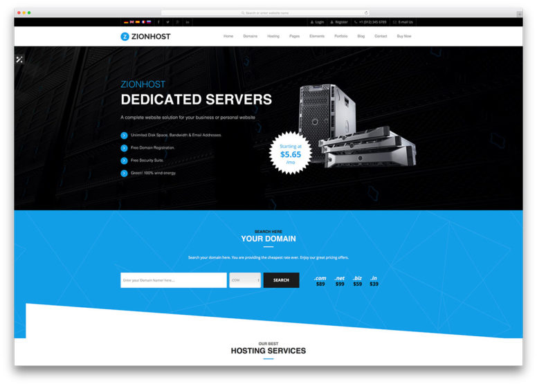 24 Best Hosting WordPress Themes With Full WHMCS Manager Integration 2018