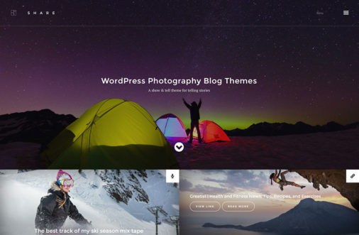 Wordpress Photography Blog Themes
