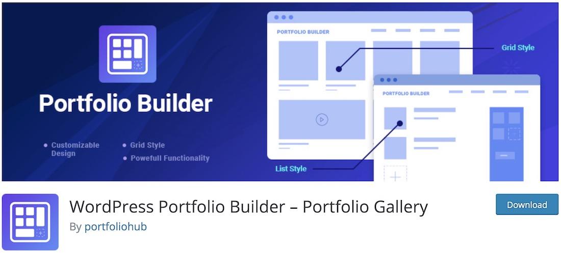 wordpress portfolio builder free plugin