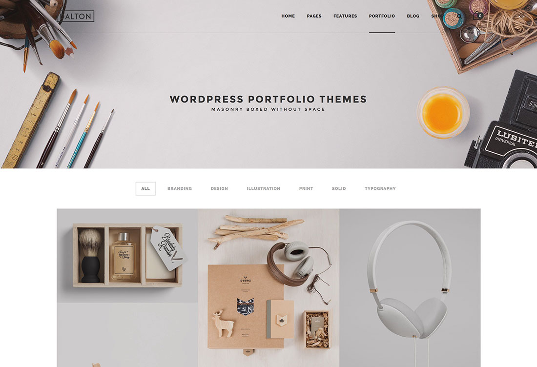 Best portfolio wordpress themes 2017