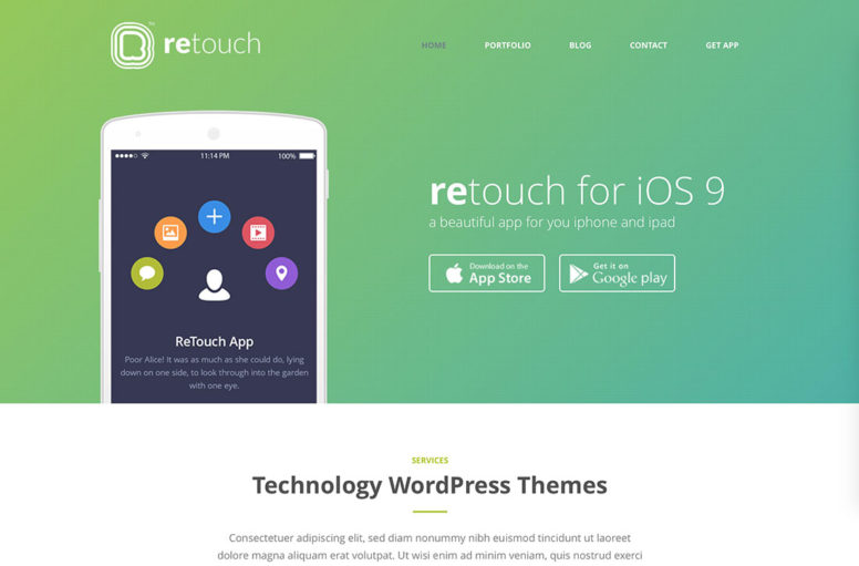 24 Professional WordPress Technology Theme For Apps, Landing Pages And Tech Startups 2018