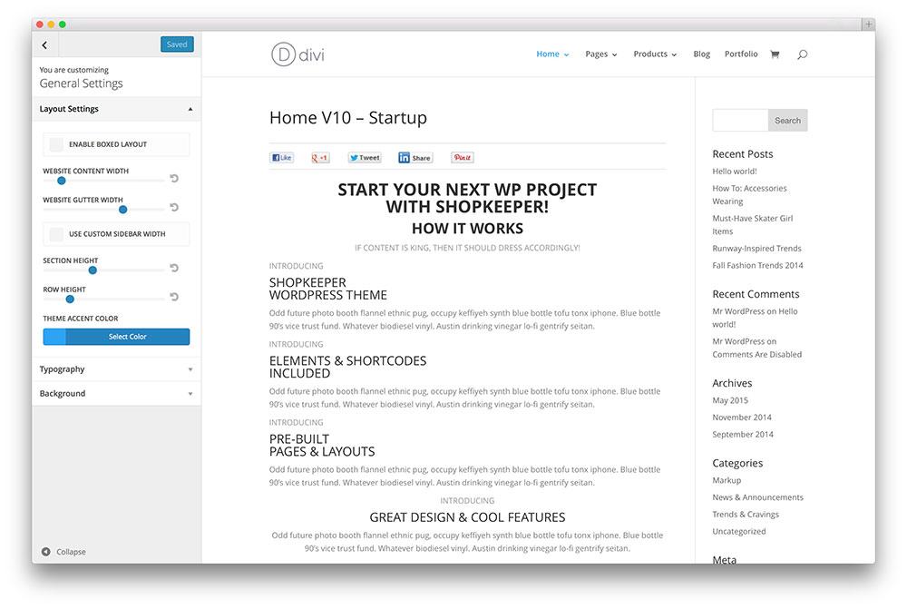 wordpress-theme-customizer