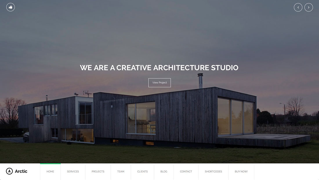 Best wordpress themes for architects and architectural for Architecture sites