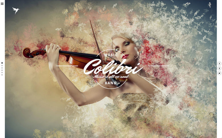 18 Best WordPress Themes For Artists Such As Musicians, Singers, Painters And Other Creatives – 2017