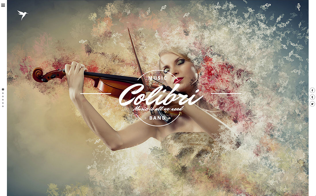 25 best wordpress themes for artists such as musicians singers painters and other creatives