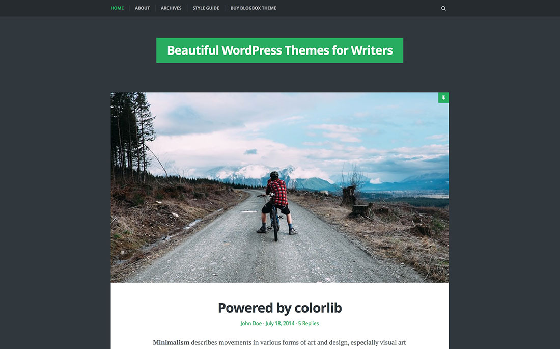 20 Simple & Beautiful WordPress Themes For Writers, Bloggers And Other Authors – 2017