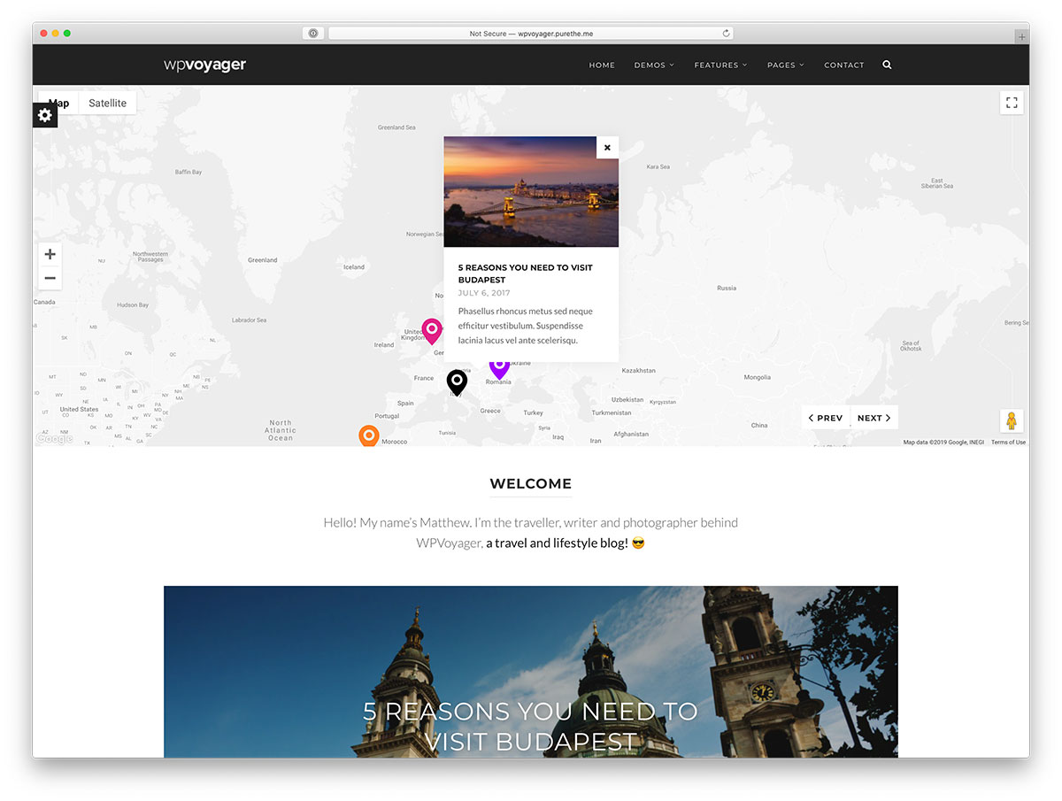 wordpress travel blog