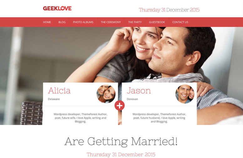 Premium WordPress Wedding Themes