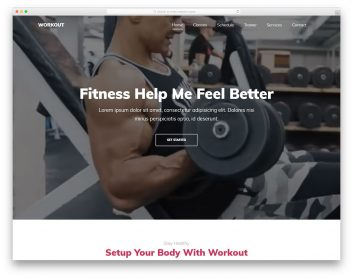 Workout Free Template