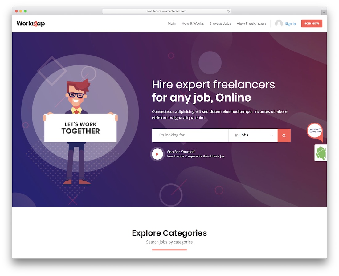 workreap wordpress theme