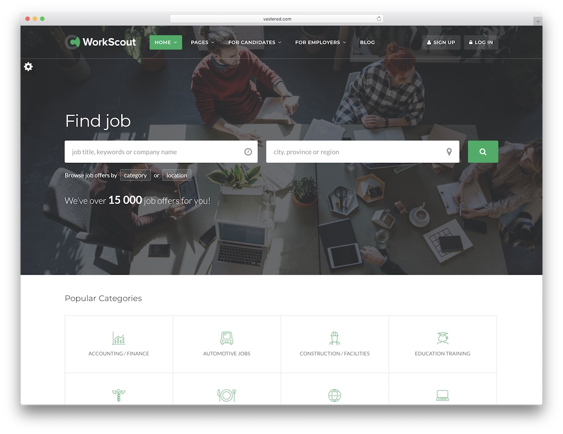 workscout html5 website template