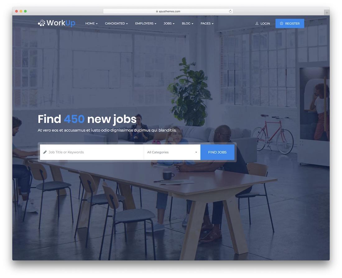 workup wordpress job board theme