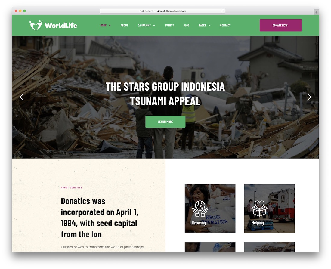 worldlife ngo website template