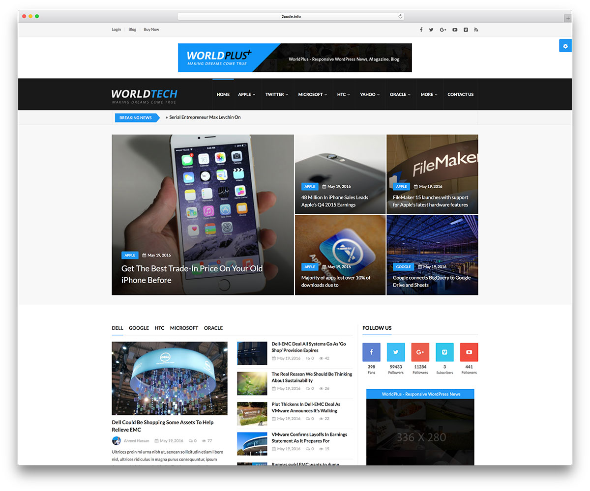 worldplus-tech-news-wordpress-website-template