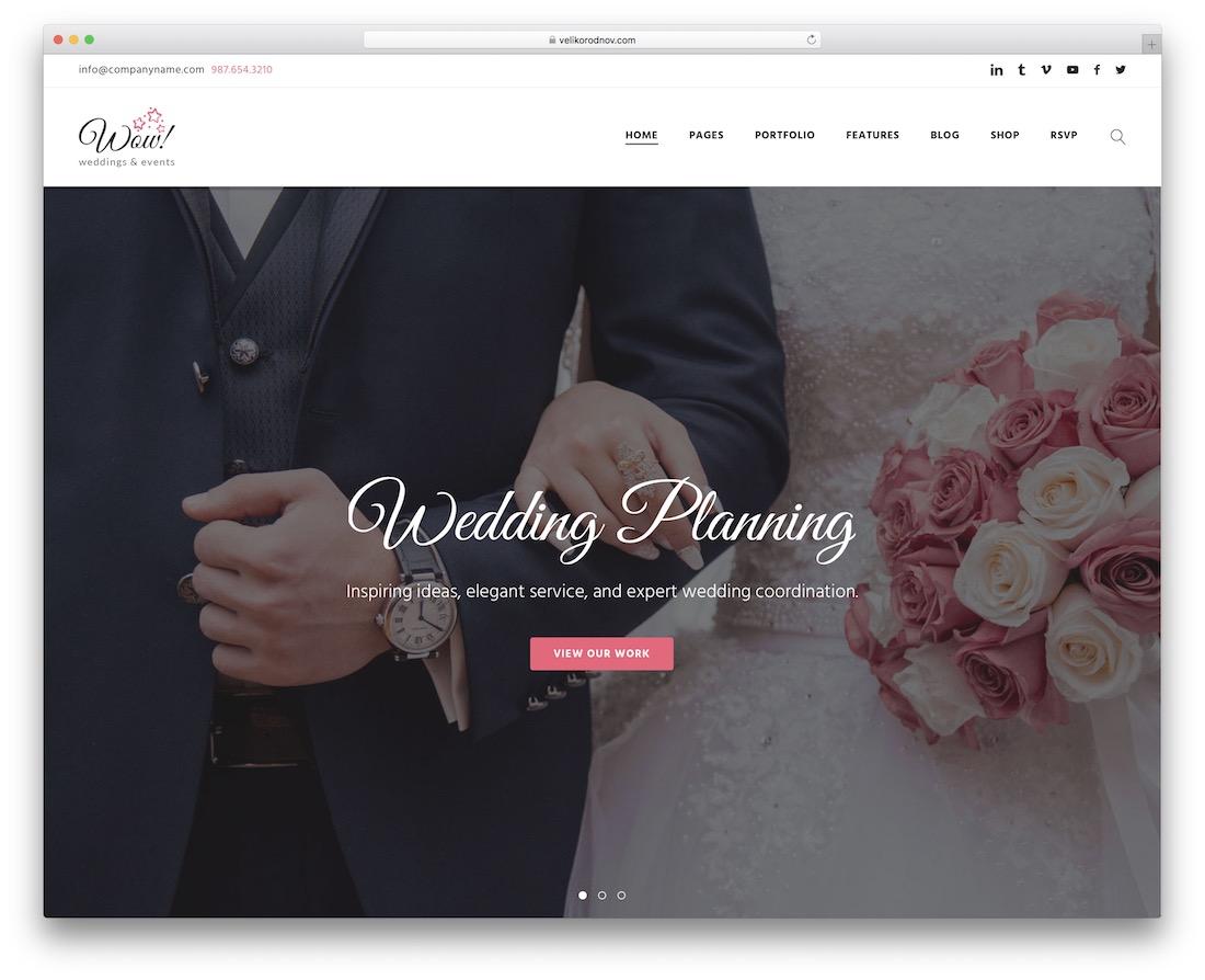 wowedding event planner wordpress theme