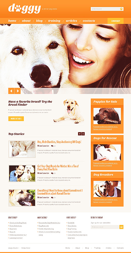 Dog Shop WordPress Theme