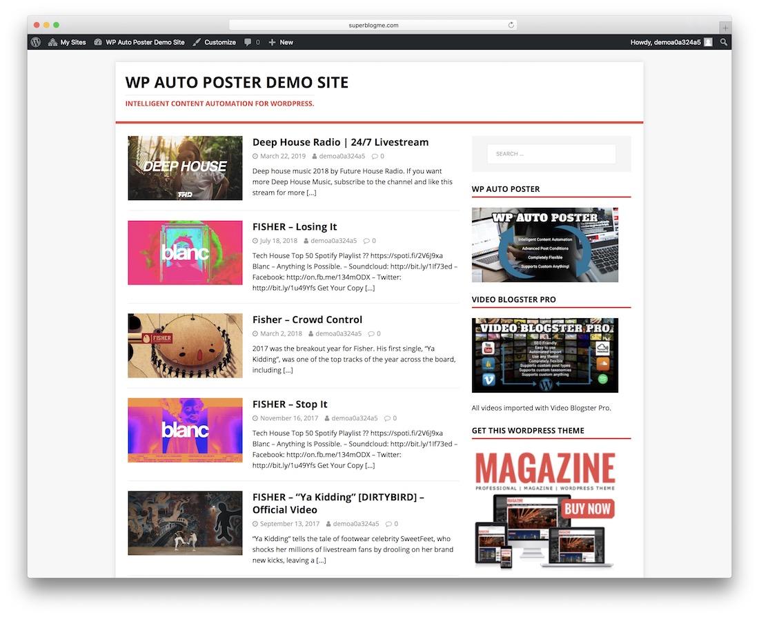 wp-auto poster wordpress autoblogging plugin