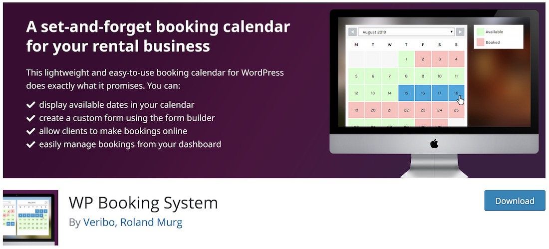 wp booking system free wordpress plugin