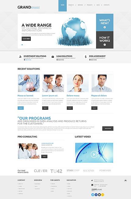 Financial Consultant WordPress Theme