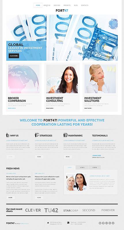 Investment Business WordPress Theme