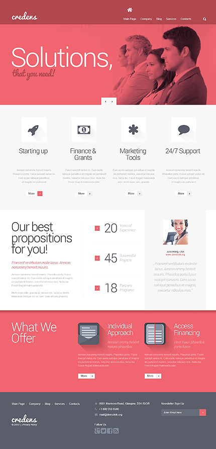 Business for Bold Start WordPress Theme