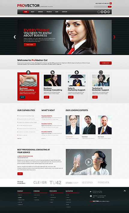 50+ Most Outstanding Business WordPress Themes For Startups 2014 ...