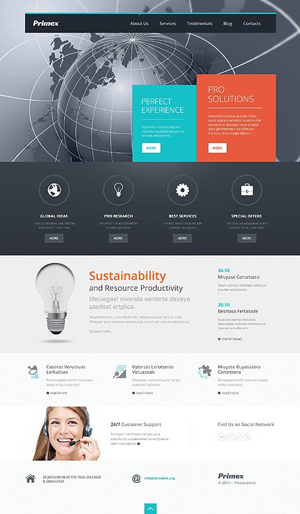 Outsourcing Company WordPress Theme