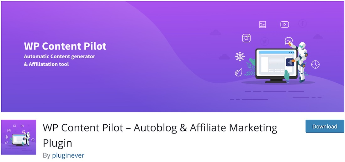 wp content pilot free wordpress affiliate plugin