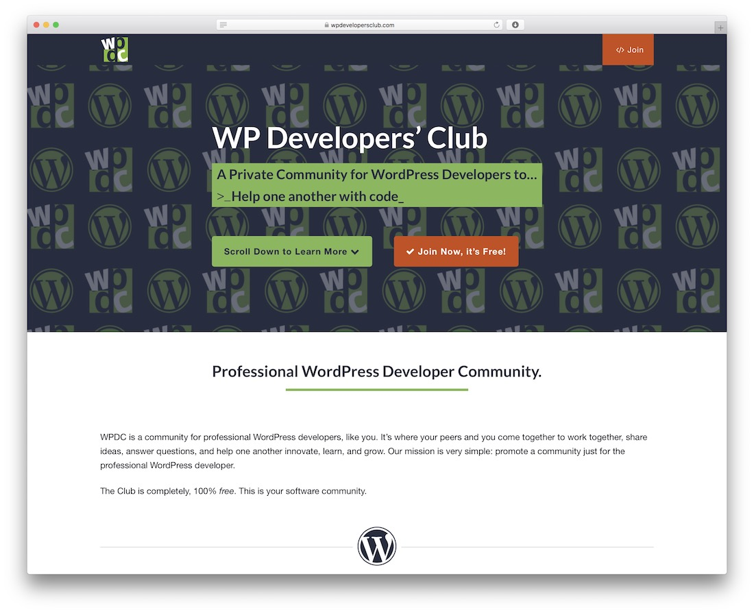 wp developers club