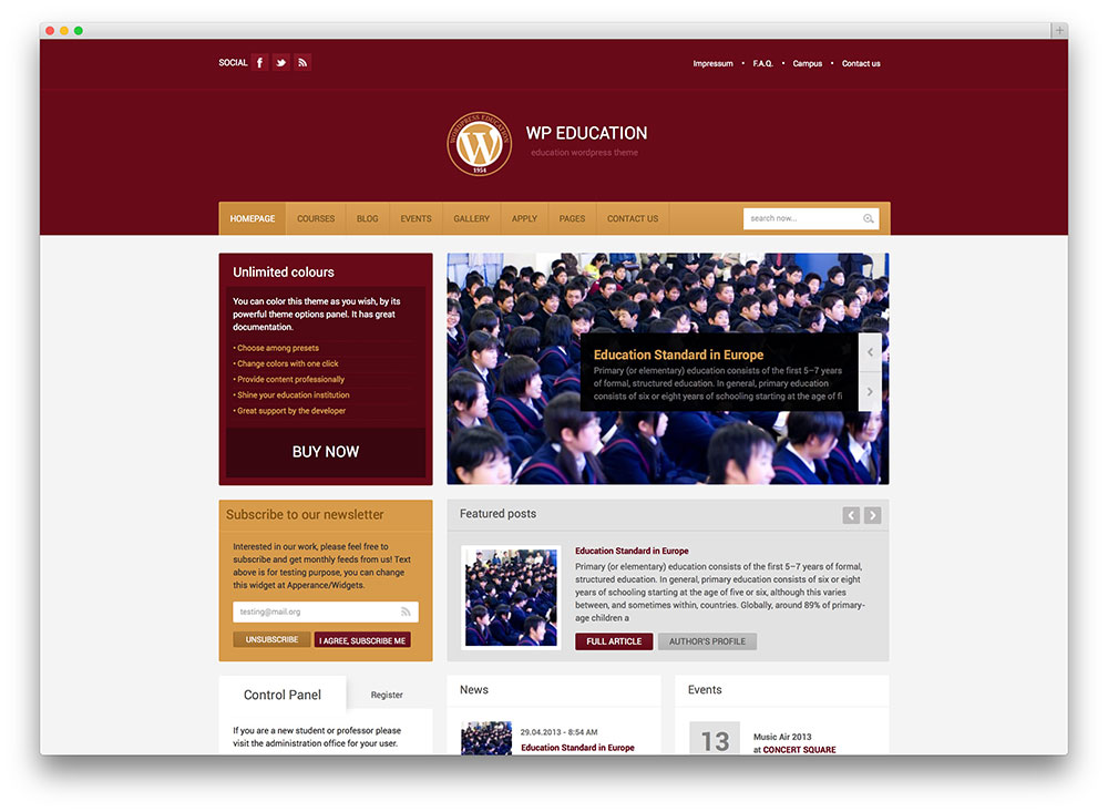 WP Education theme