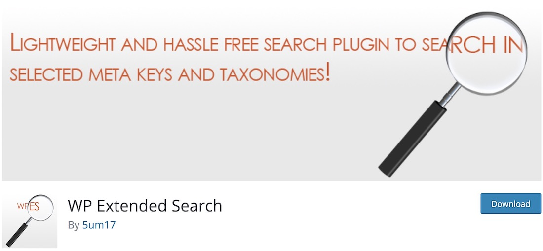wp extended search wordpress plugin