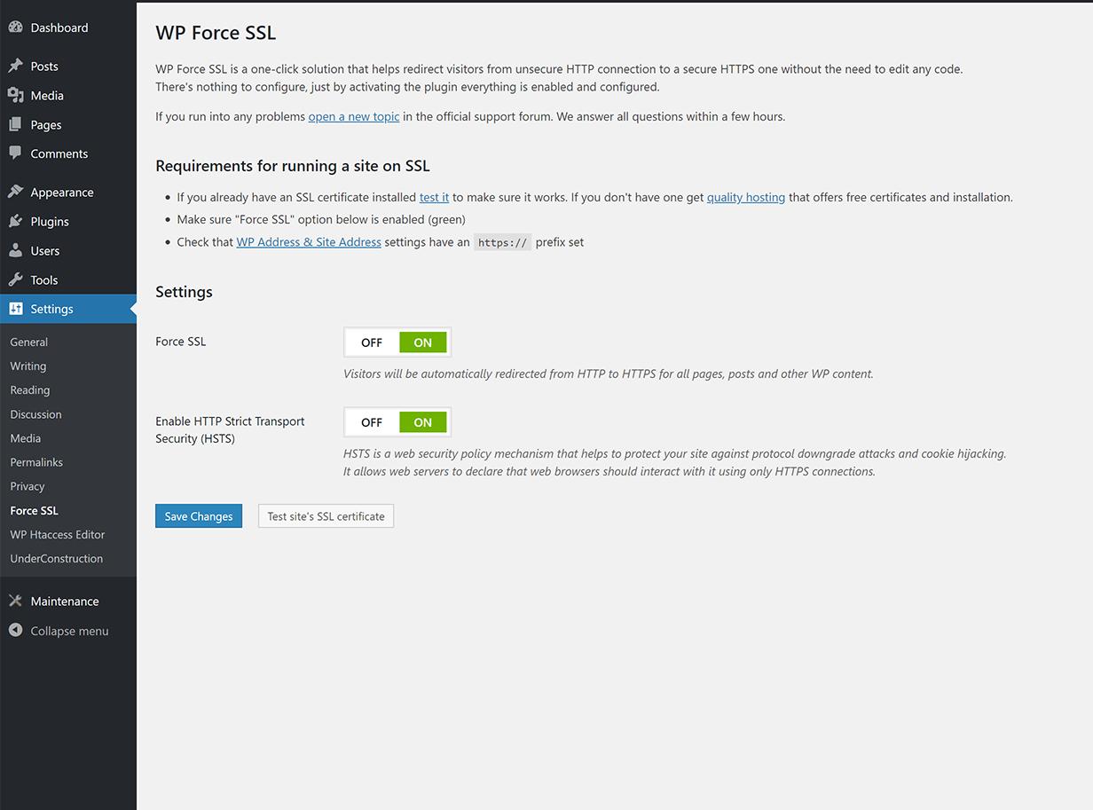 Free WordPress SSL Plugin