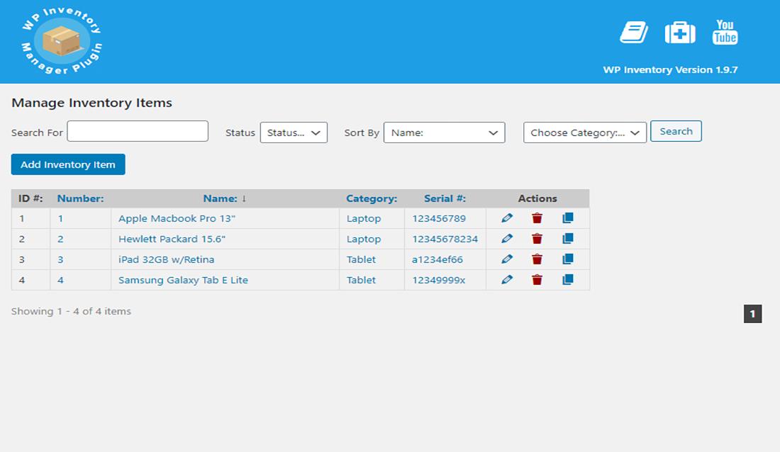 Organized WordPress Inventory Plugins