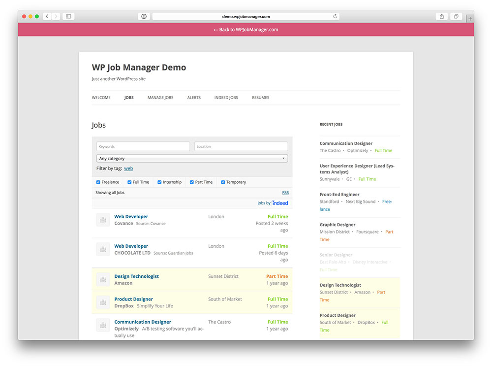 Wp Job Manager - WordPress job board plugin