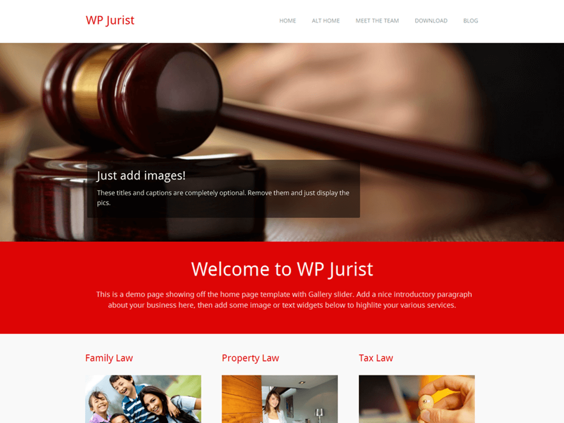 WP Jurist WordPress Theme for Law Websites