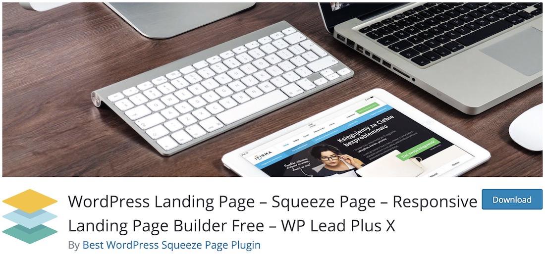 wp lead plus x landing page plugin
