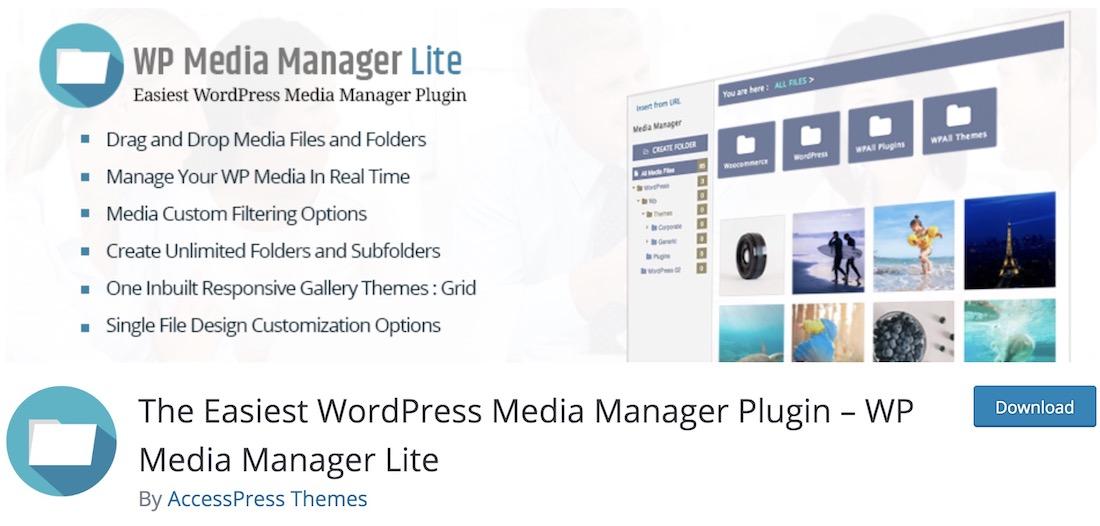 wp media manager lite wordpress plugin