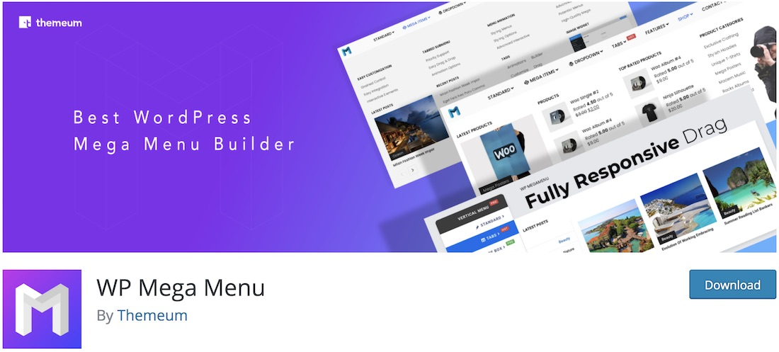 wp mega menu wordpress plugin