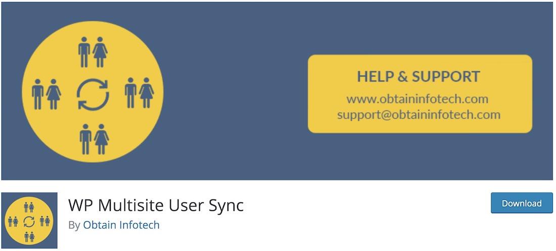 wp multisite user sync wordpress multisite plugin
