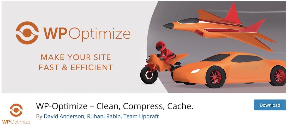 wp-optimize image compression plugin