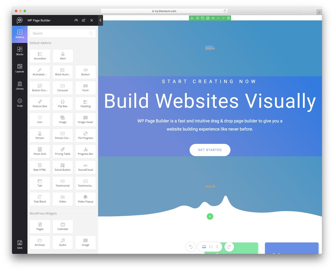 wp page builder wordpress plugin