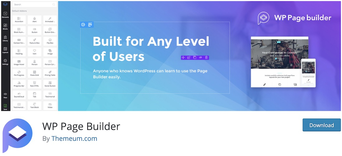wp page builder wordpress plugin