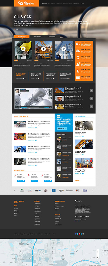 Industrial Company WordPress Theme